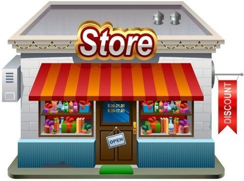 небольшие магазины модели 01 вектор