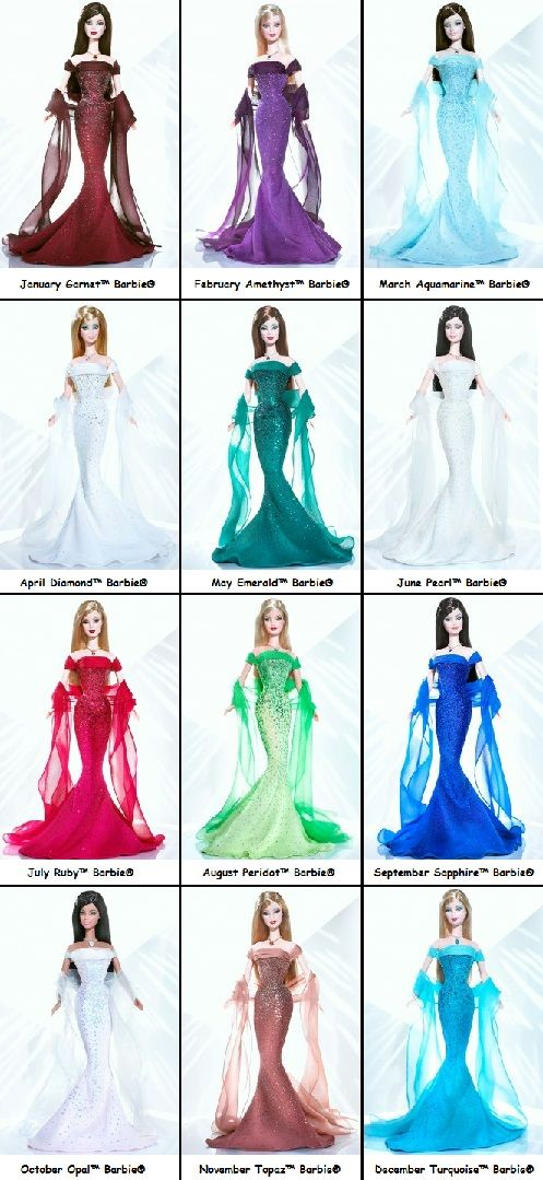 The Birthstone™ Barbie® Collection 2004  barbie doll collection