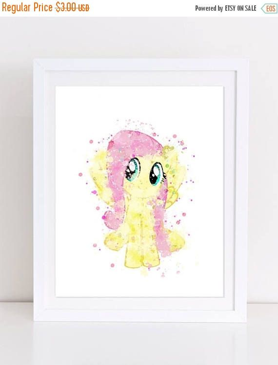 70%OFF My Little Pony Fluttershy Poster Watercolor Pony