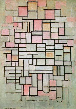Piet Mondrian - Composition number 6 están solo interesadas en las relaciones formales