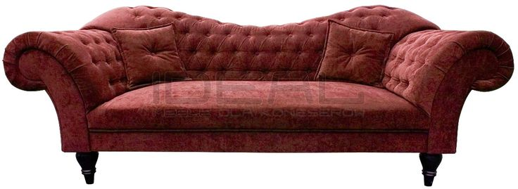czerwona sofa chesterfield, red chesterfield, pluszowa sofa chesterfield, velvet chesterfield, styl angielski, armchair   karmazyn, ceglana, perpur Sofa Chesterfield_Madame_5.jpg (1200×439)