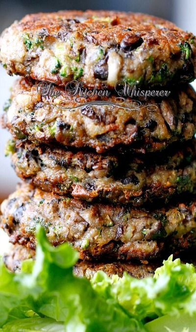 Chunky Potabella Veggie Burgers