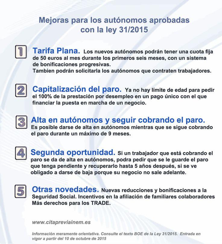 MEJORAS PARA AUTÓNOMOS A PARTIR DEL 10 DE OCTUBRE