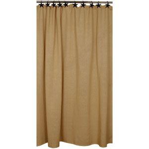 Cotton Burlap Shower Curtain