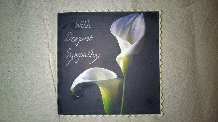 Gorgeous and simple homemade sympathy card