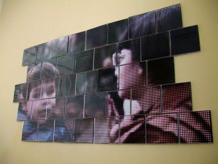 Op zoek naar een creatieve muurschildering? Doe het zelf! Maak van oude cd-hoesjes jouw unieke wanddecoratie.