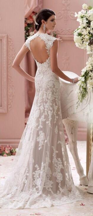 Trouwjurk van kant op maat bruidsjurk bruidsmode trouwen : http://link.marktplaats.nl/m969883022