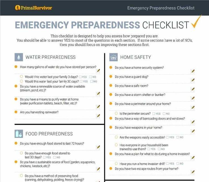 The  Best Emergency Preparedness Checklist Ideas On