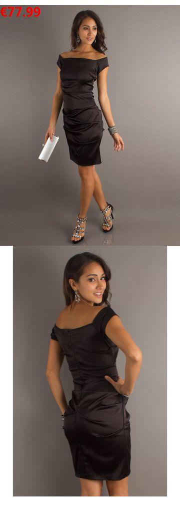Etui-Linie aus Elastische Gewebe Satin Carmen-Ausschnitt Ärmellos mit Knielang Reißverschluss kleine schwarze Kleider                                 Specifications                                              ÄRMELLÄNGE          Ärmellos                                  AUSSCHNITT          Carmen-AUSSCHNITT                                  RÜCKEN          Reißverschluss                           #bride #instabräute#brautkleid#EveningDress#partydressonline#kleine schwarze