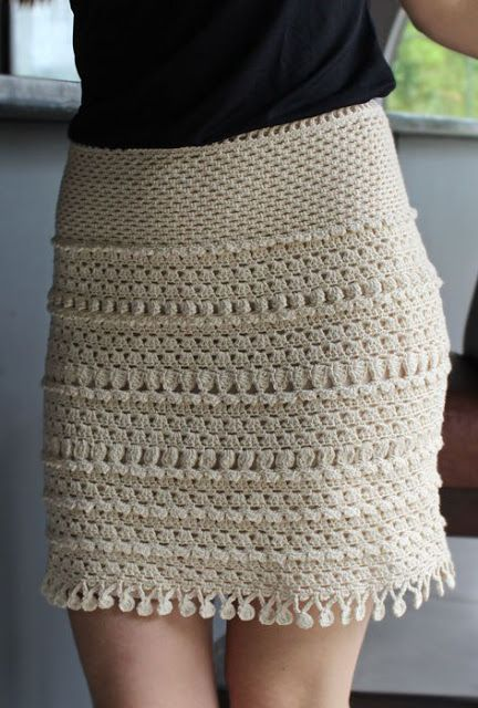 Charming Crochet Skirt See How It's Done ~ Crocheting Knitting