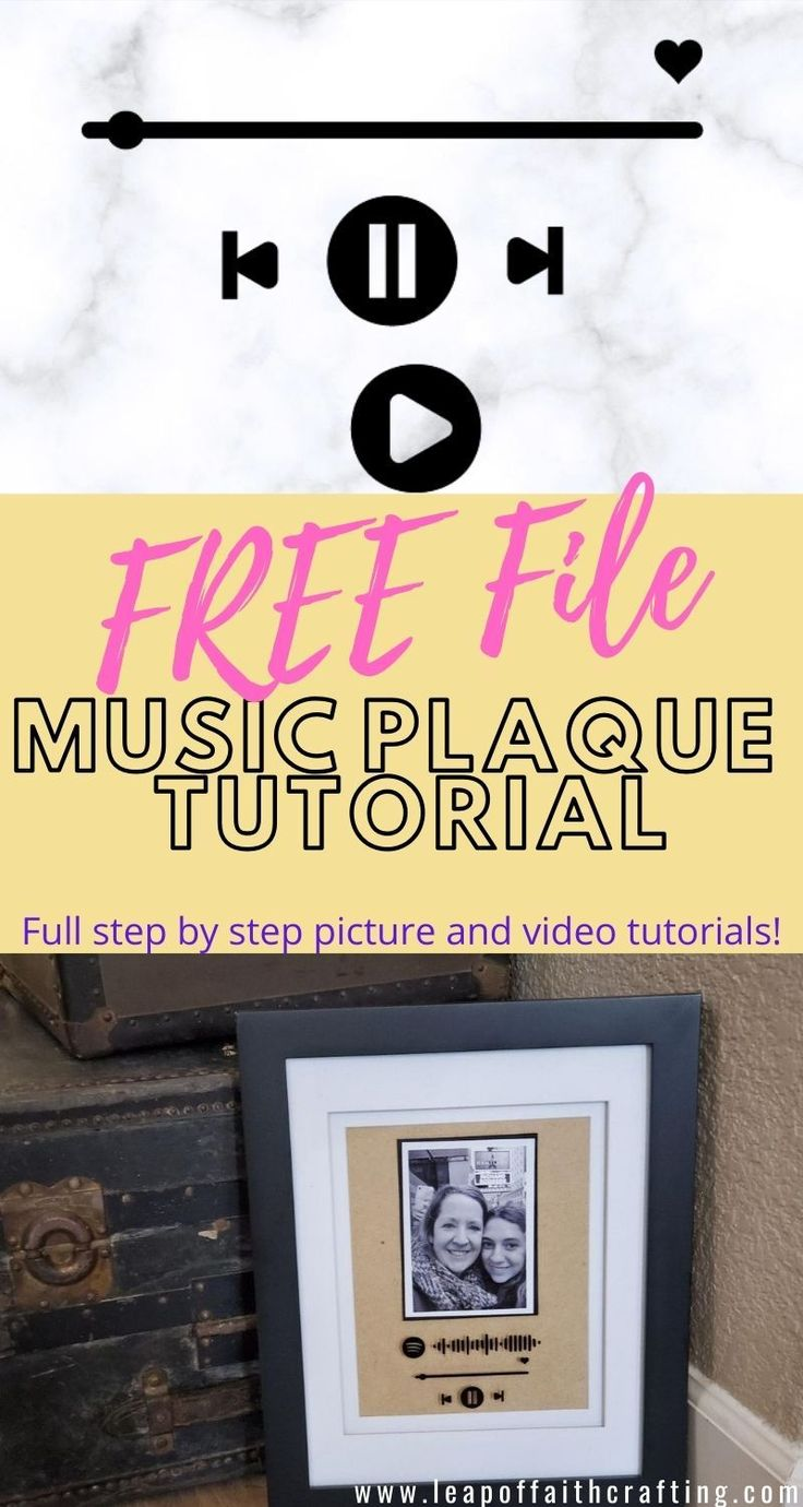 Cricut Glass Music Plaque Tutorial with FREE SVG File