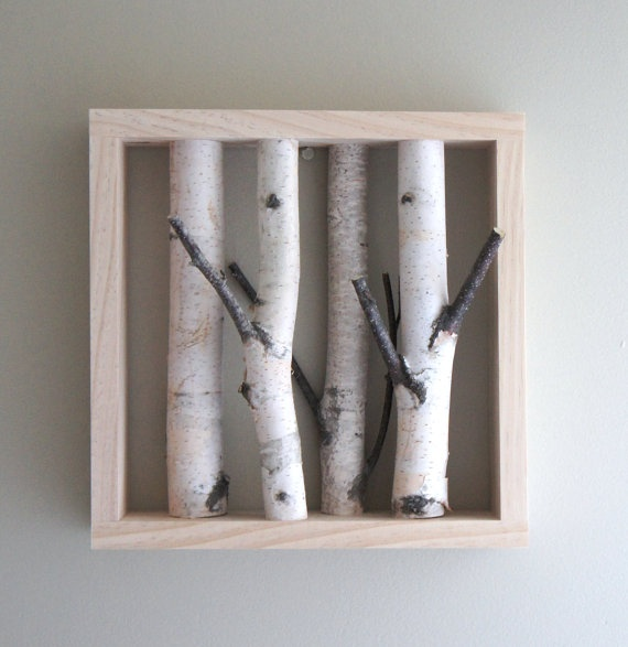 natural white birch forest wall art x for the home