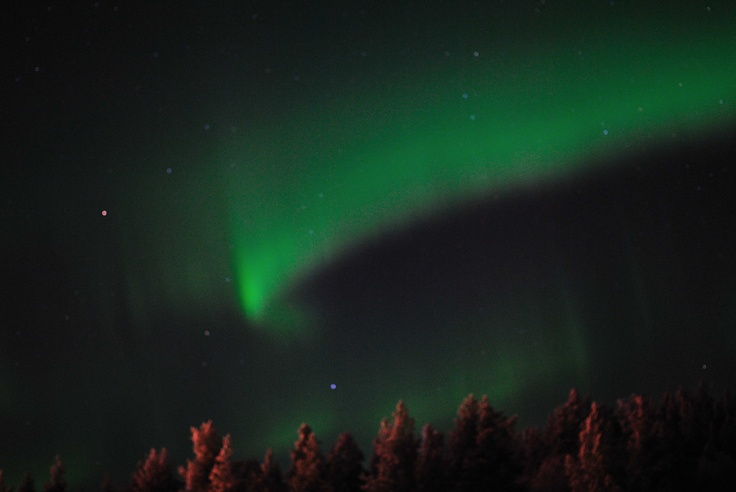 フィンランドのサーリセルカで見たオーロラ。
