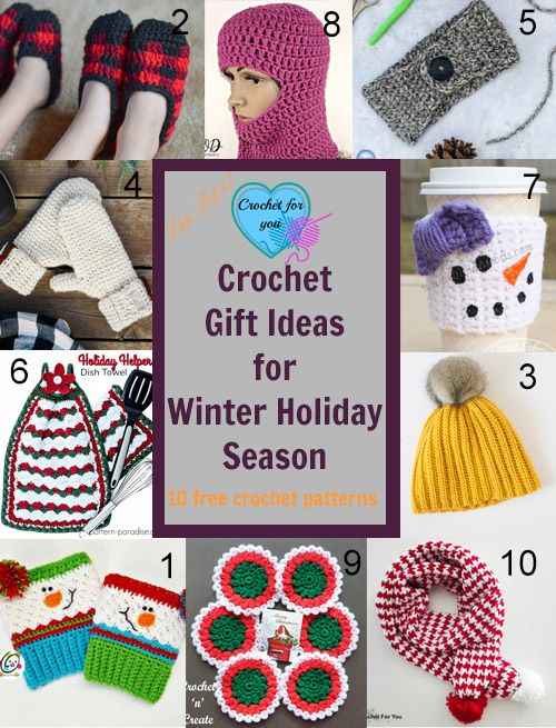 10 Free Crochet Gift Ideas for Winter Holiday Season.