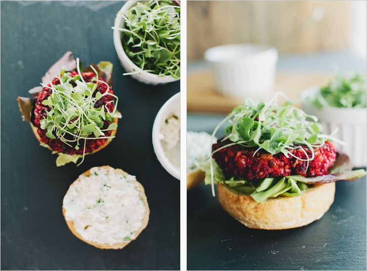 smoky beet burgers // sprouted kitchen