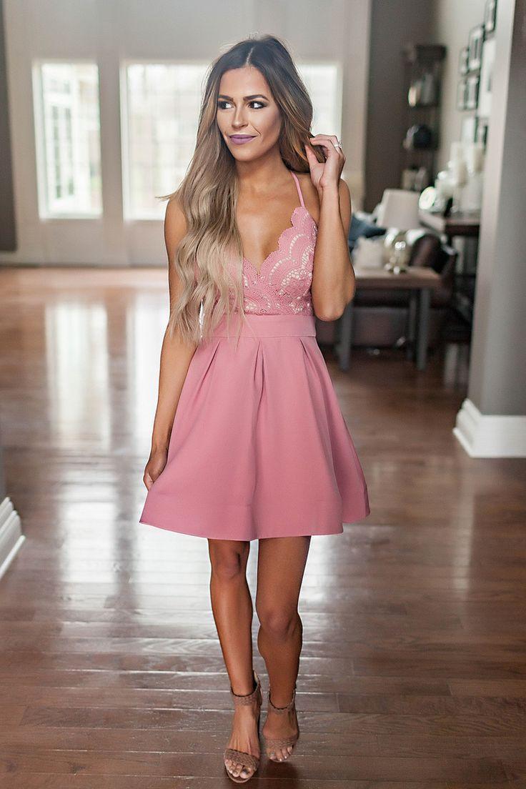 Rose Crochet Top Fit & Flare Dress - Dottie Couture Boutique