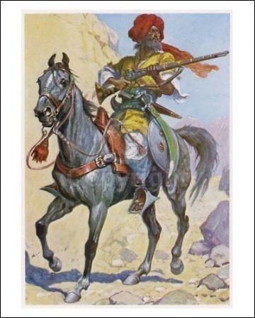 Pashtun cavalryman, 1st Anglo-Afghan war