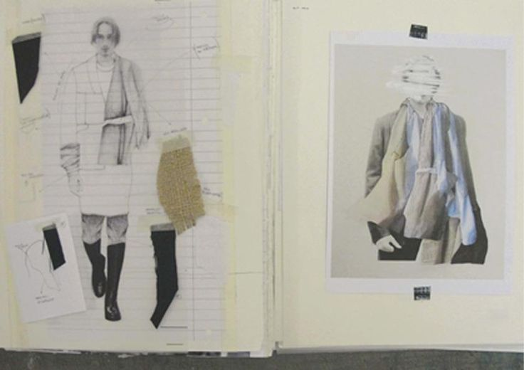 Fashion Sketchbook pages - layout inspiration; fashion design illustration & fabric swatches; fashion portfolio