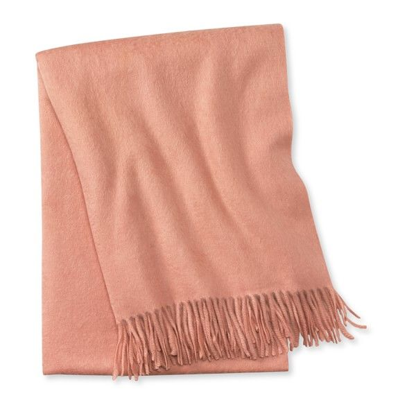 Solid Cashmere Throw, Blush