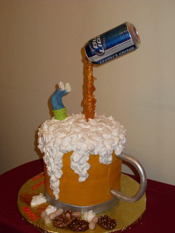 Gâteau anniversaire 30 ans bière homme dans la bière gâteau cool