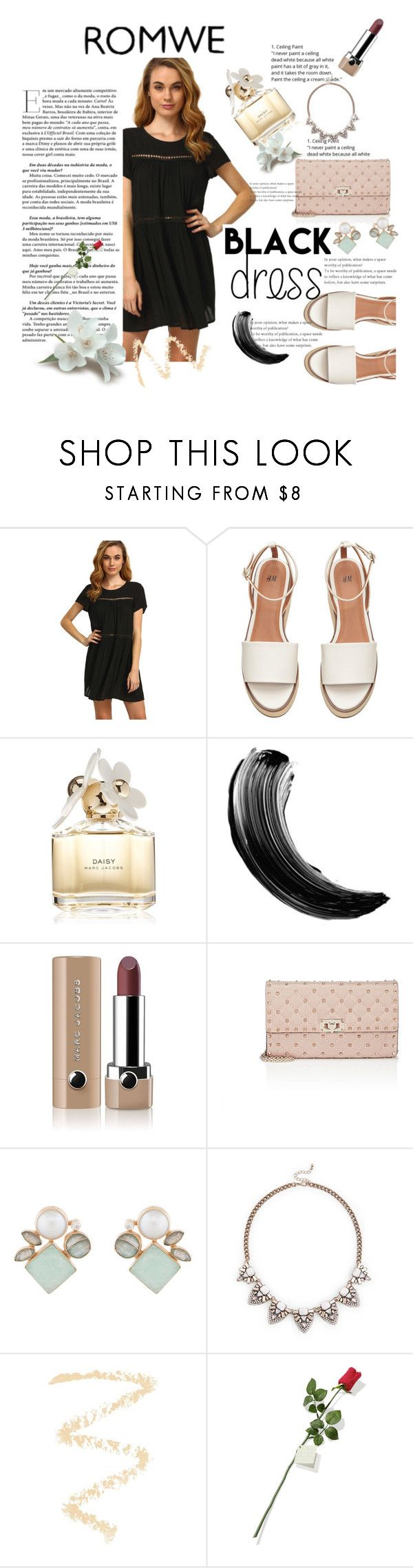 """Uma rosa vermelha"" by thais-santana-1 ❤ liked on Polyvore featuring Marc Jacobs, Valentino, Atelier Mon, Sole Society, Topshop and Hanky Panky"