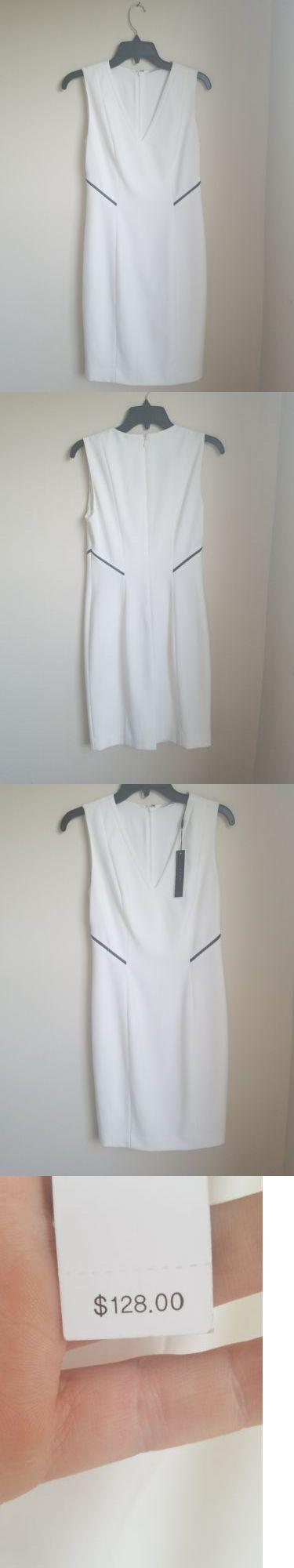 Women Fashion: $128 White Sleeveless Women S Elie Tahari Dress Nwt Size 2 New -> BUY IT NOW ONLY: $61 on eBay!