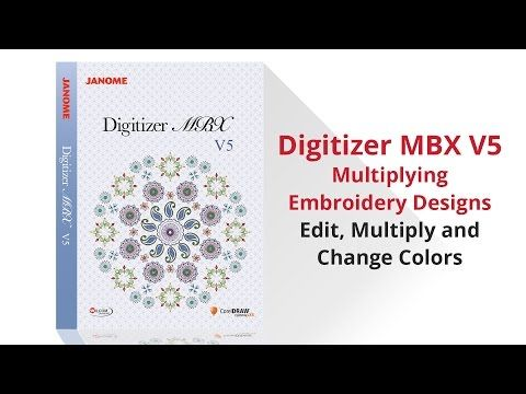 Janome Digitizer MBX Version 5 Multiply Embroidery Designs - YouTube