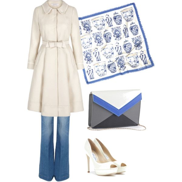 Başlıksız #63 by humeyracd on Polyvore featuring polyvore, moda, style, 7 For All Mankind, Jimmy Choo and Halcyon Days