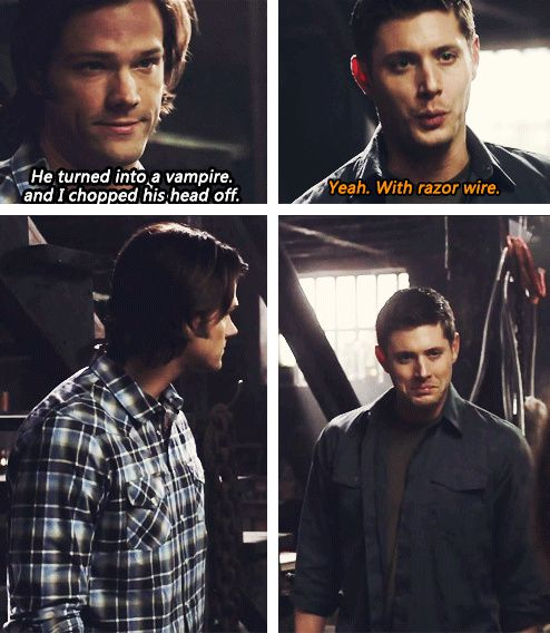 [gifset] Dean's face... so adorable! Just full of big brother pride <3 6x19 Mommy Dearest #SPN #Dean #Sam