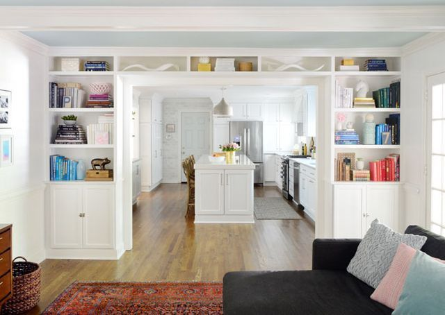 Adding Built-In Bookshelves Around Our Living Room Doorway | Young House Love | Bloglovin'