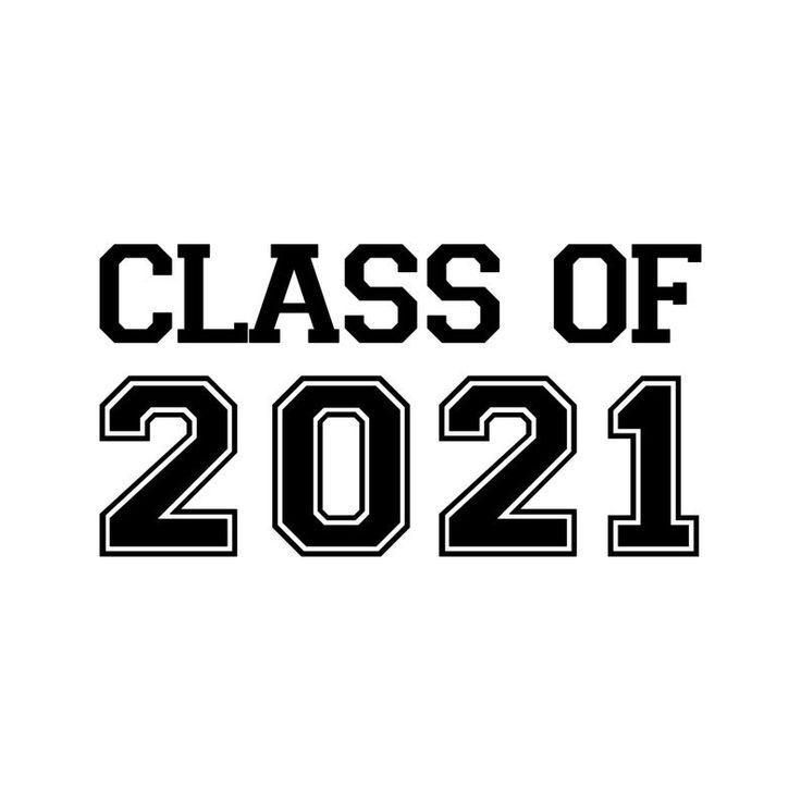 Class of 2021 vinyl decal sticker graduation high school