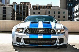Painting - Ford Mustang Shelby Gt500 Nfs Edition by Vadim Pavlov