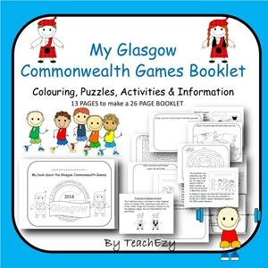 Commonwealth Games Mini Booklet - 26 pages of colouring, activities, puzzles and information.