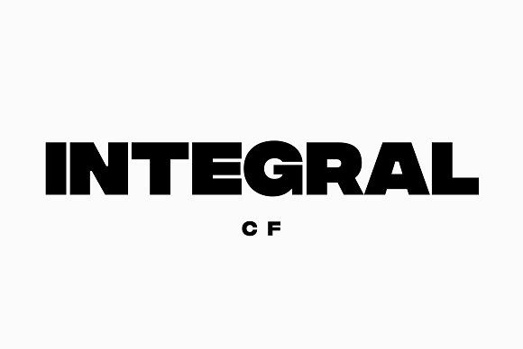 Integral CF: Ultra Bold titling font by Connary Fagen Type Design on @creativemarket