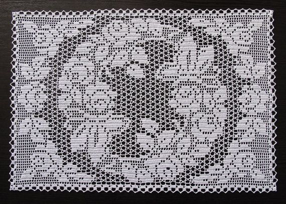 Filet crochet doily by vintage Laura Wheeler pattern (which Ive bought here, on…