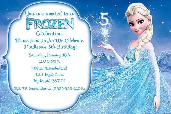 disney u0026 39 s frozen birthday invitation by samanthaspartydecor