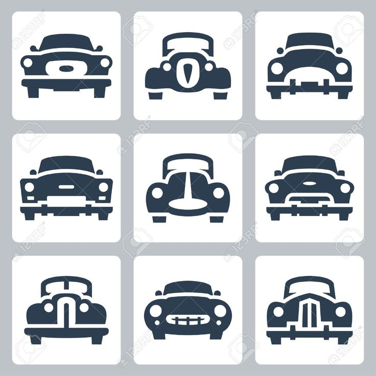 Car Icon Vector Top View Wallpapers Vector old cars icons set