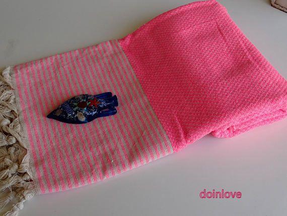 Pink colour Turkish light weight natural cotton beach wrap