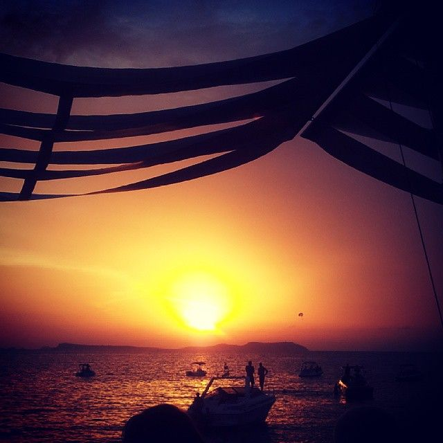 Magical sunset at Cafe Mambo #mambos #cafemambo #ibiza #holiday #summer #sunset ♡♡