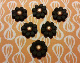 Torta commestibili/Cupcake decorazioni - fiori di Spooky Halloween 12 - fondente cimatrici, cimatrici Sugarpaste