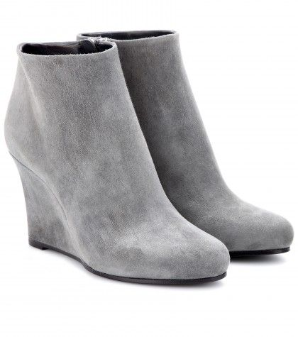 #JilSander - Suede wedge ankle boots