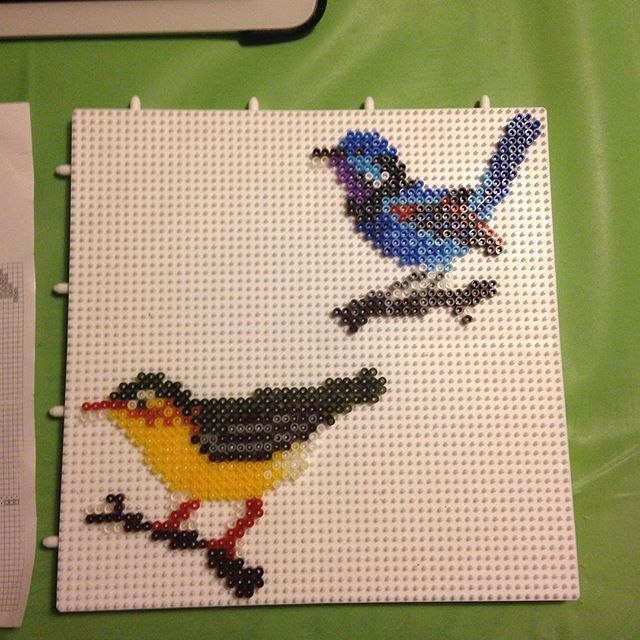 Birds hama mini beads by marnaymat
