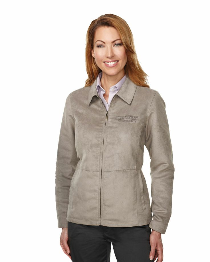 Womens Suede Jacket 100% polyester printed lining  Style#: Tri mountain JL2930 #Suede #Jacket #Women #polyester #Trimountain #fashion #stylish