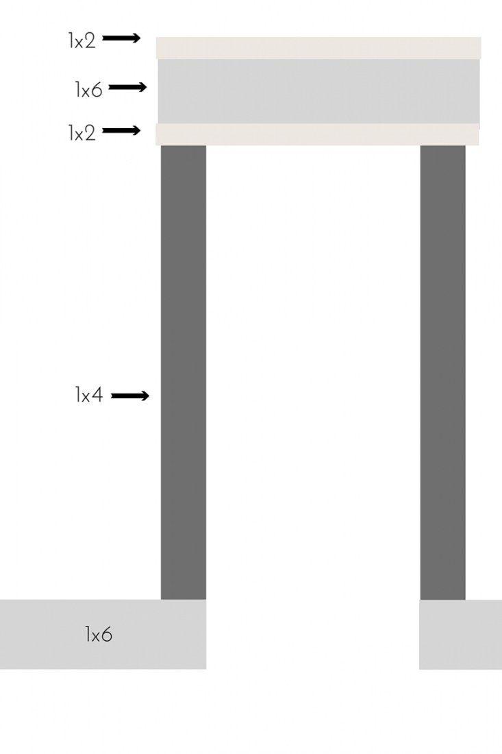 Simple window trim - Diy Farmhouse Style Trim