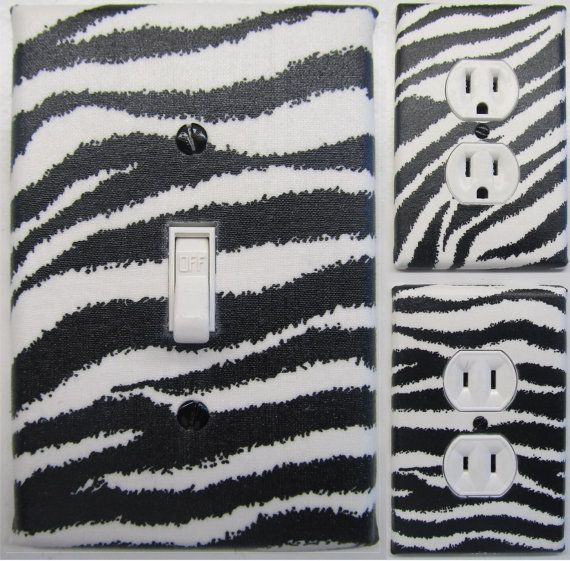 Zebra Print Light Switch and Outlet Covers