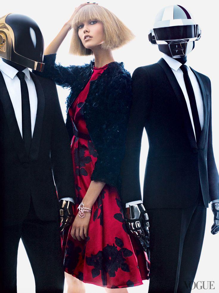 La Maison Sartorie D'Amber: Karlie Kloss and Daft Punk | US Vogue | August 2013 | Fashion & Music