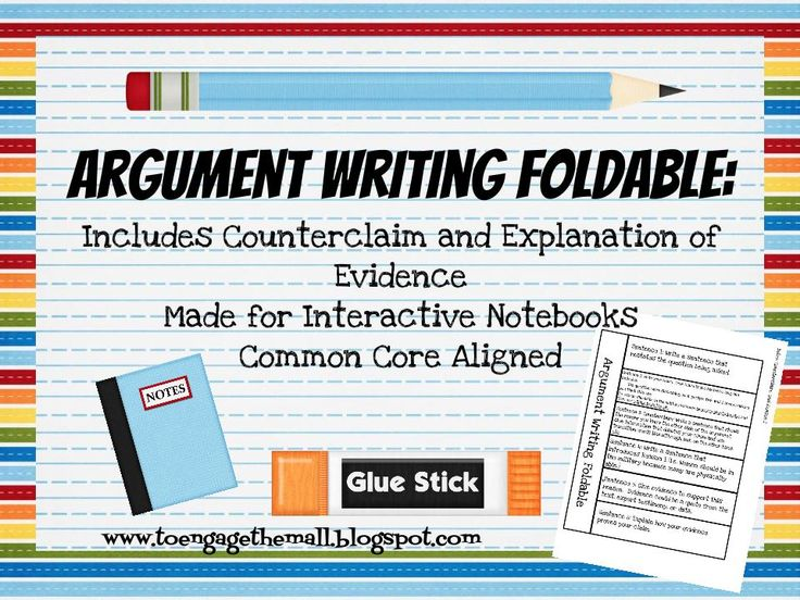 Are you using writer's notebooks? Are you looking for a way to model a Common Core Aligned argument for middle school? Included you will find a interactive notebook foldable that helps students organize information for an argument writing that is aligned to the Common Core State Standards.