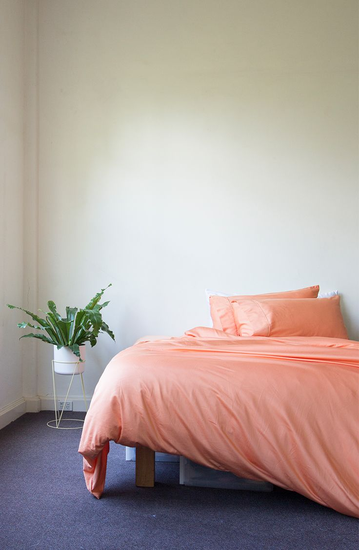 Home Decor // Apricot Bamboo Duvet Cover by Ettitude.