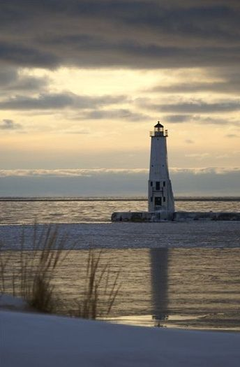 Frankfort Lighthouse ,Lake Michigan