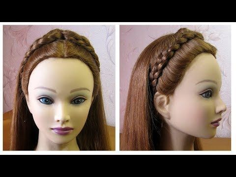 (88) Braided headband hairstyle Quick & Easy 🌺 Tresse serre-tête 🌺 Coiffure rapide et facile à faire – YouTube